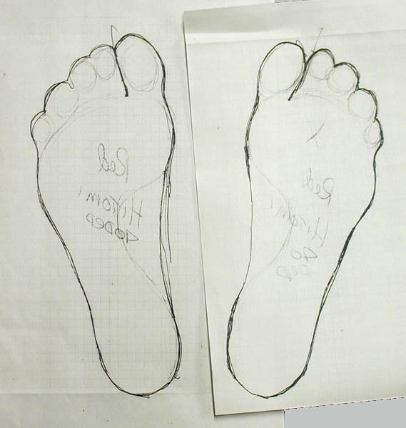 your feet this is a well drawn set of feet hold the drawing pencil