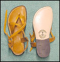 Gold Latago Leather Sandal - Womens handmade leather sandals - all sandals at islandsandals.com are handmade with quality leather